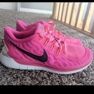 Nike running barefoot ride sneakers